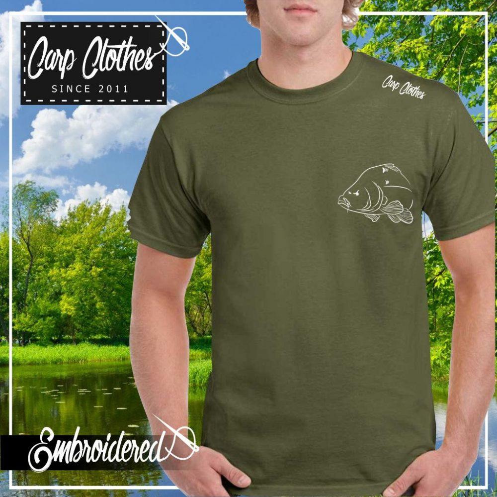 036 EMBROIDERED CARP T-SHIRT